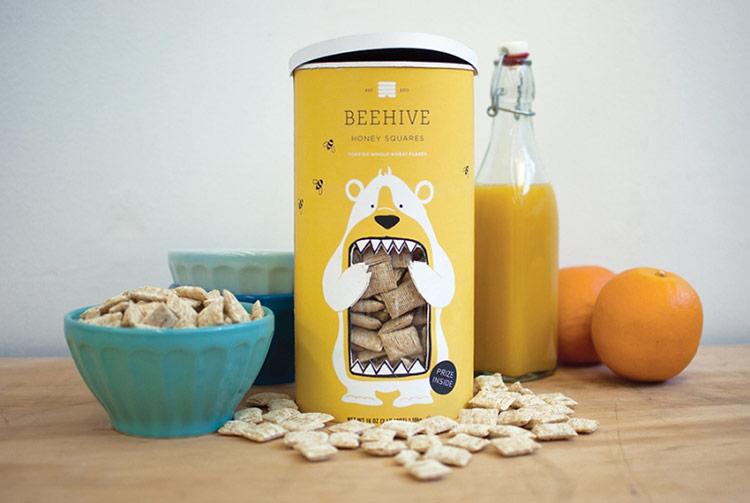 Mẫu thiết kế bao bì Beehive Honey Squares