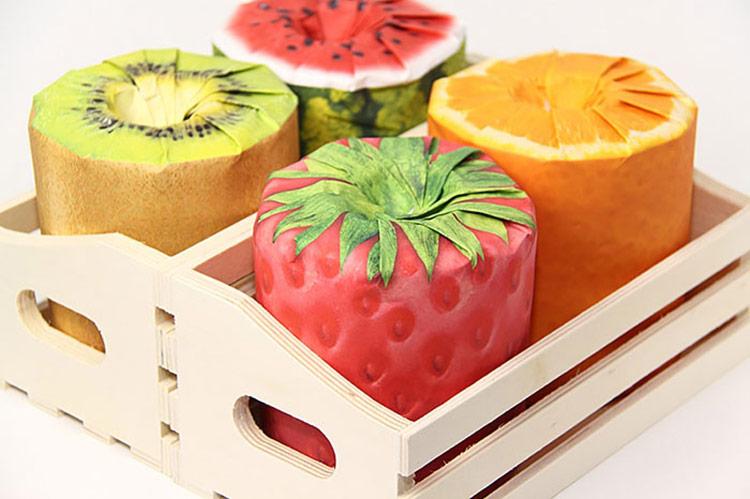 Mẫu bao bì đẹp - Fruits Toilet Paper