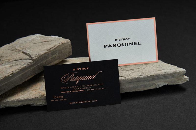 Bộ nhận diện thương hiệu cổ điển của Pasquinel Bistro