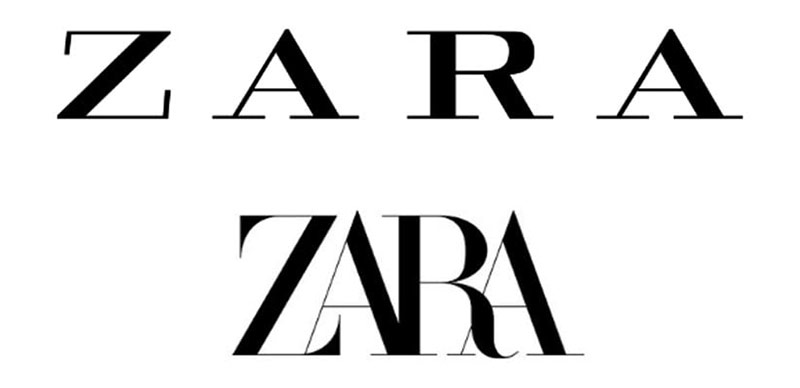 """ZARA: Dư luận cho rằng đội ngũ thiết kế logo của ZARA chỉ thay đổi """"chút xíu"""" logo cũ, không có gì mới mẻ."""