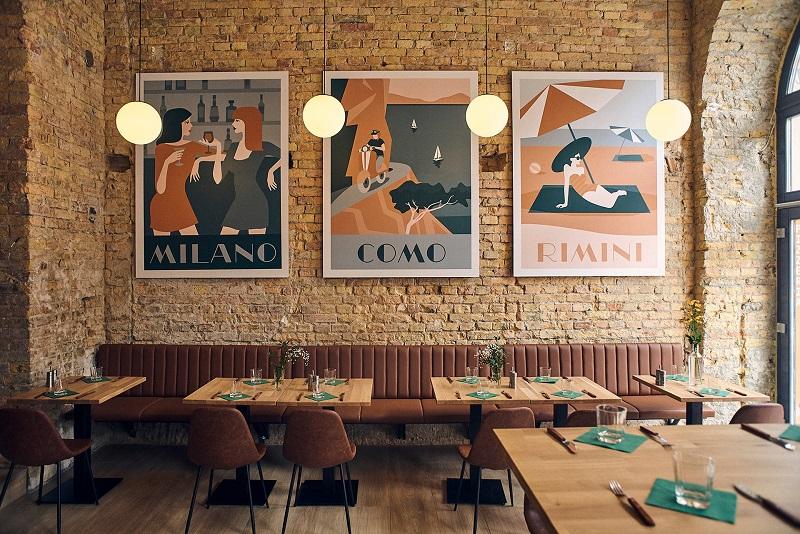 Khám phá thiết kế thương hiệu đậm chất Naples của nhà hàng Belli di Mamma