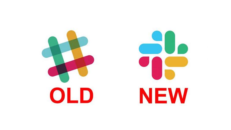 Logo của Slack - mới và cũ