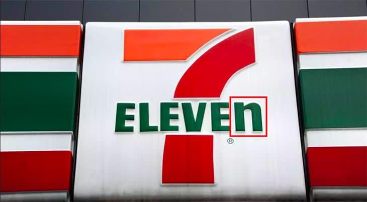 """Chữ """"n"""" một mình một kiểu trong logo 7-Eleven hóa ra không phải lỗi đánh máy mà là chủ ý của hãng."""