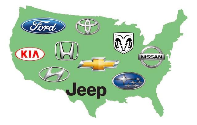 Top 10 thương hiệu bán nhiều xe nhất nước Mỹ năm 2019