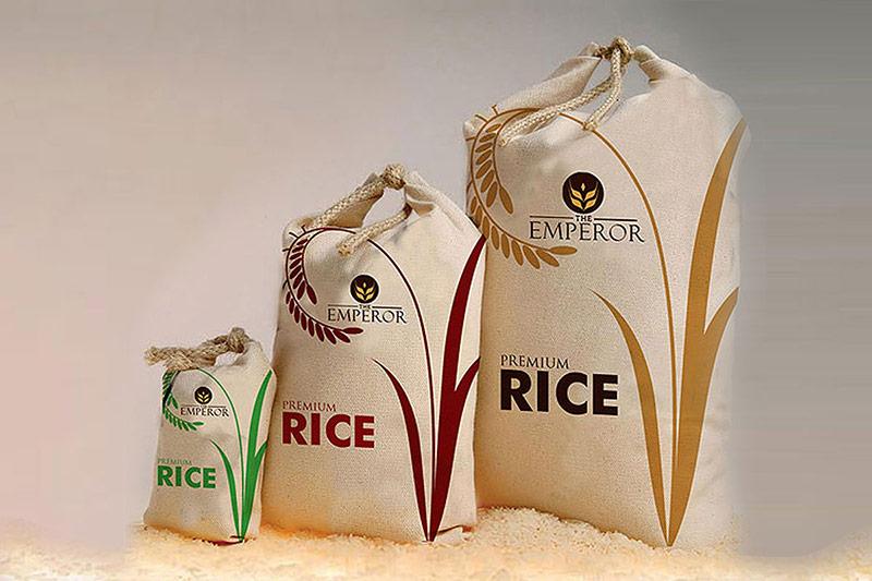 Thiết kế bao bì gạo dạng túi dải rút