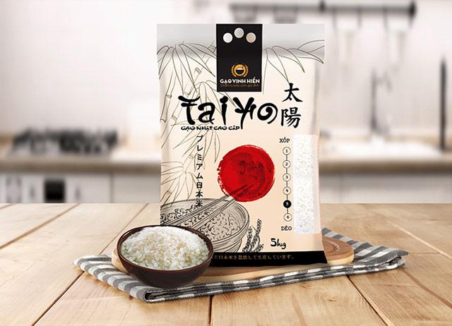 Thiết kế bao bì gạo tinh tế của Nhật