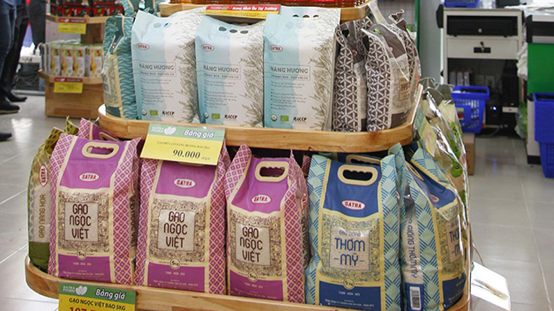 Thiết kế bao bì gạo đẹp mắt của một số hãng gạo Việt Nam