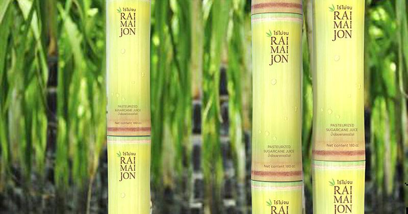 Bao bì sản phẩm nước mía đóng lon của Thái Lan