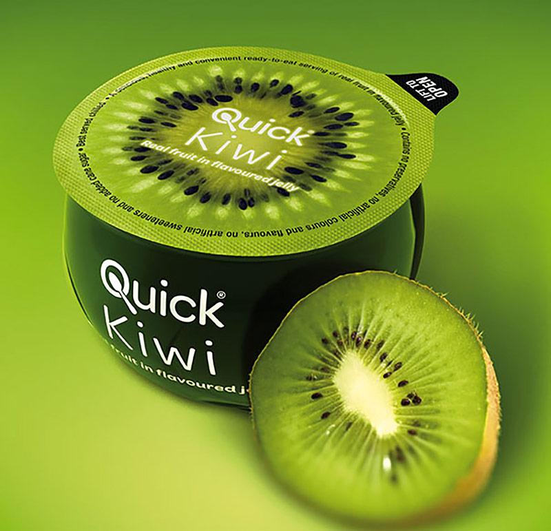 Bao bì một hộp kiwi ăn nhanh