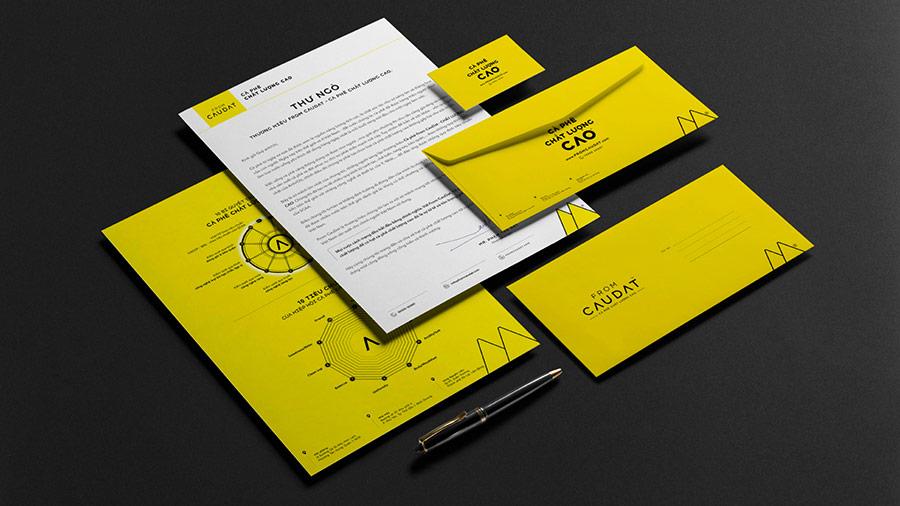 Hệ thống nhận diện thương hiệu From-CauDat, thiết kế bởi Vũ Digital, thực hiện năm 2020