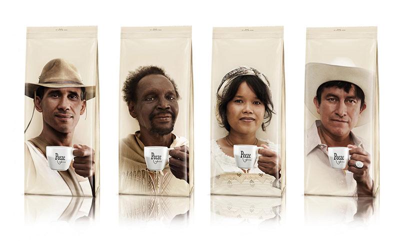 thiết kế bao bì cà phê đưa ngay câu chuyện về sản phẩm, về thương hiệu lên vỏ bao bì với những hình minh họa độc đáo