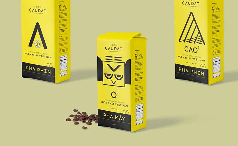 Bao bì cà phê sáng tạo từ nhà thiết kế của Vũ Digital - Agency