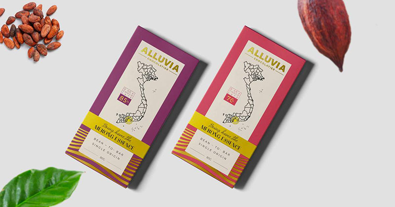 Hình ảnh bao bì Chocolate Alluvia do Vũ Digital - Agency thiết kế