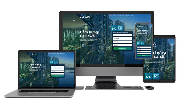Thiết kế website dự án Bất Động Sản THE INFINITI