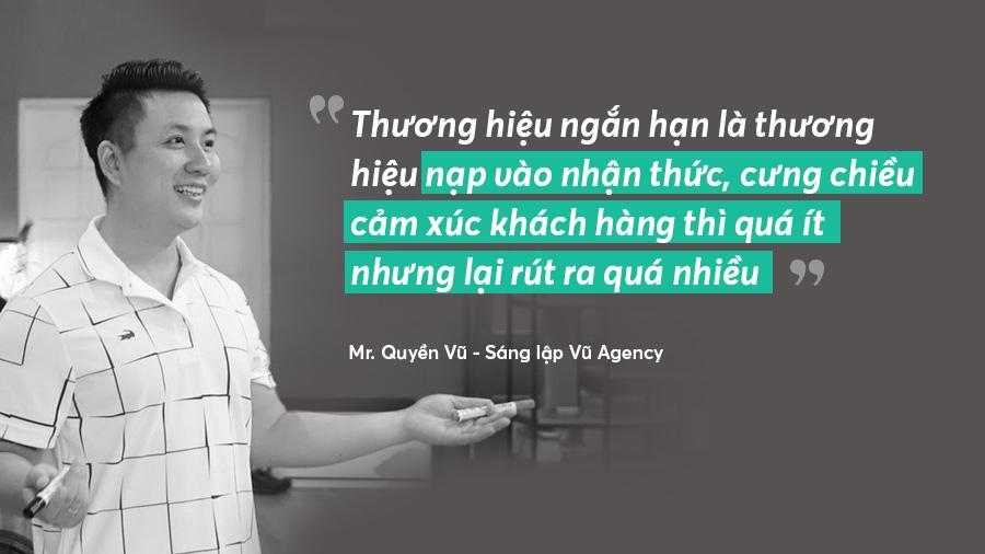 Mô tả về thương hiệu ngắn hạn của Mr. Quyền Vũ - Sáng lập Vũ Agency