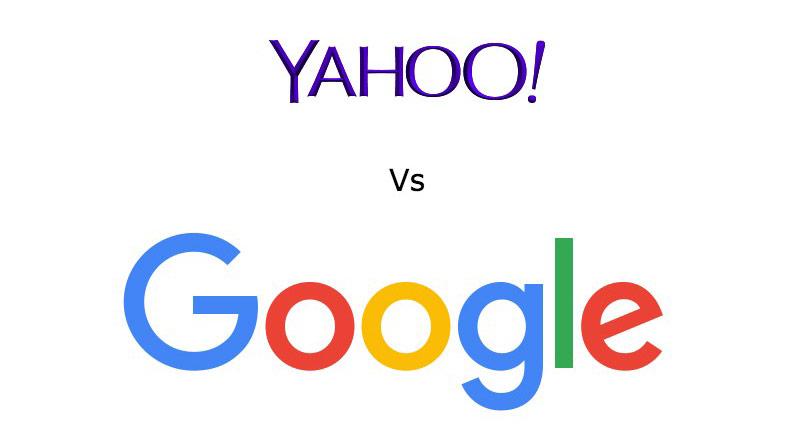 Logo Yahoo và Google