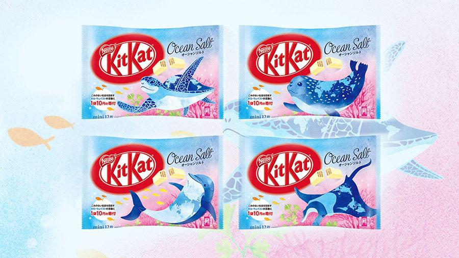 """""""Cú hattrick"""" khẳng định vị thế thương hiệu qua thiết kế bao bì - Kitkat Ocean Salt"""