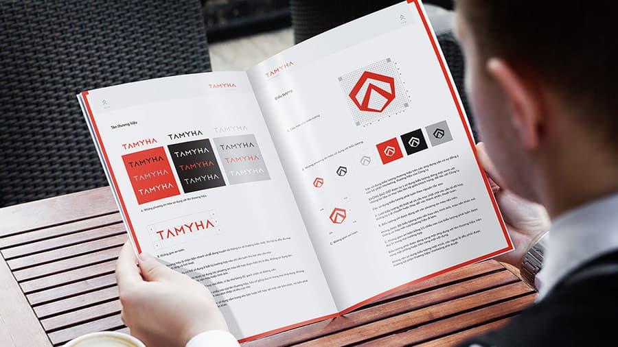 Cẩm nang hướng dẫn sử dụng logo Vũ Digital thực hiện với hệ thống nhà máy tôn thép Tamyha.