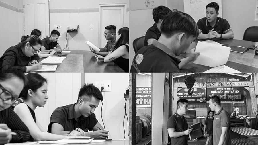 Đội ngũ Vũ Digital đang thực hiện việc phác thảo hình ảnh thương hiệu, khảo sát toàn bộ dự án nhà máy tôn thép Tân Mỹ Hạnh - Đồng Nai.