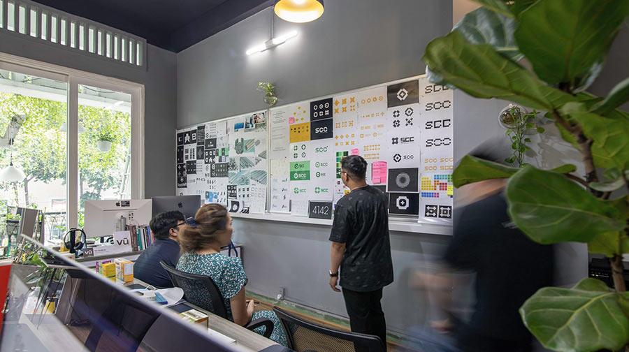 Design agency - Hình ảnh Vũ Agency thiết kế lại thương hiệu tập đoàn SCC.