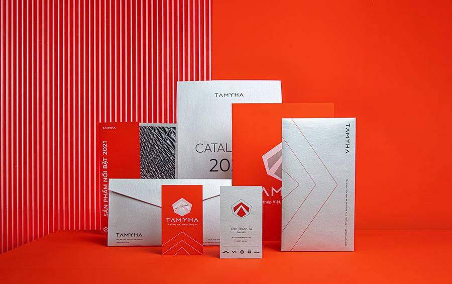 Design agency - Hệ thống nhận diện thương hiệu Tamyha, tên thương hiệu Tân Mỹ Hạnh đã chuyển đổi trở thành Tamyha để phù hợp với chiến lược thương hiệu mà Vũ Agency tư vấn.