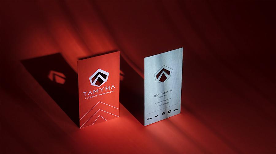 Design agency - Ngành công nghiệp nặng (sắt, thép) khiến chúng ta nghĩ không cần nghệ thuật, tại Vũ Agency, chúng tôi mang tới sự khác biệt trong hệ thống nhận diện thương hiệu TAMYHA.