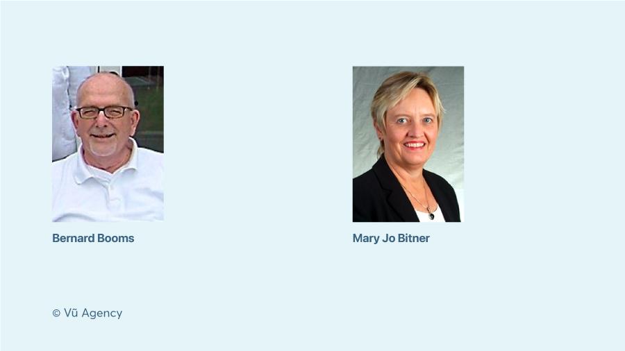 Bernard Booms và Mary Bitner